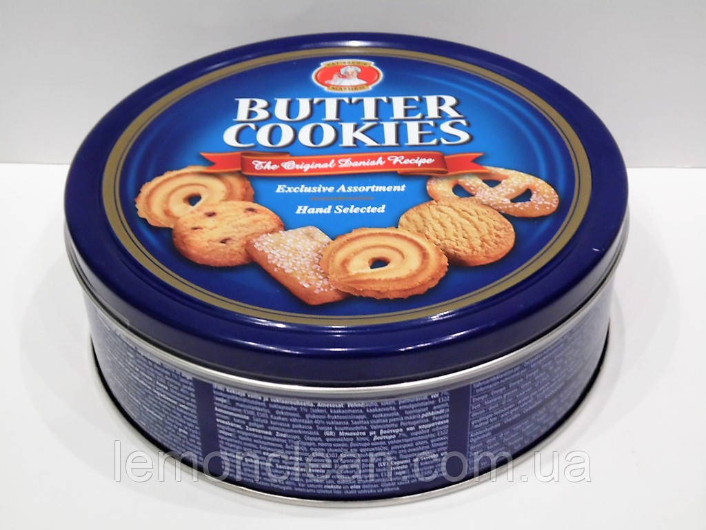 Песочное печенье Butter Cookies Patisserie Matheo ж/б, 454 гр.
