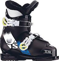 Горнолыжные ботинки детские Salomon team t2 black/white/acide gre (MD)