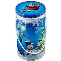 """Подарочная новогодняя упаковка """"Тубус-Санта"""", маленький, 9,9*18,8 см"""