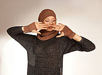 Комплект: шапочка, снуд, митенки