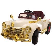 Детский электромобиль Buick RETRO Бежевый (BS8888) с надувными колесами