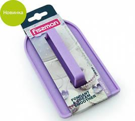 Утюжок пластиковый 14х8х0.5см для разглаживания мастики и крема на выпечке Fissman
