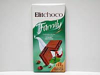 Молочный шоколад Elitchoco Family с мятным вкусом 100г., фото 1