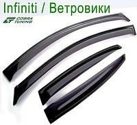 Infiniti QX56 (Z62) 2010-2013 — ветровики/дефлекторы окон (комплект)