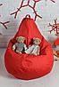 Бескаркасное Кресло мешок груша пуфик красное XL (120х75) оксфорд 600, фото 4