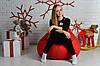 Бескаркасное Кресло мешок груша пуфик красное XL (120х75) оксфорд 600, фото 2