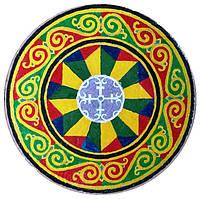 """Декоративная тарелка диаметром 42 см из """"Православие"""" шамотной трипольской глины станет изысканным"""
