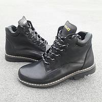 Зимние подростковые ботинки 338 Б VIOLES размерный ряд 35-39 черного цвета
