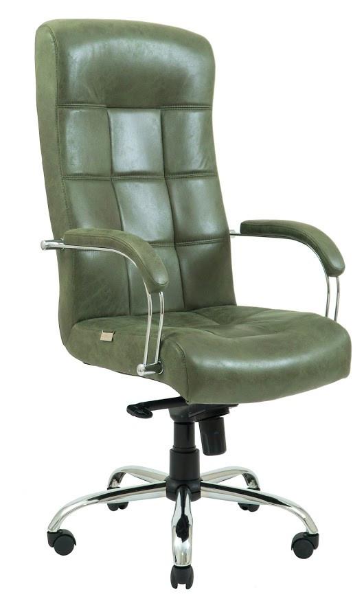 Кресло Вирджиния Хром  Легион зеленый