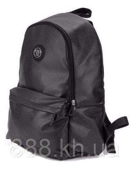 b04c87b1b373 Стильный городской рюкзак Philipp Plane, рюкзак кожаный, черный кожаный  рюкзак реплика