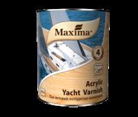 Лак яхтный водорастворимый полиуретан-акриловый глянцевый ТМ Махіма 0,75л