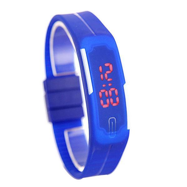 Наручний LED годинник браслет 7 кольорів код 333