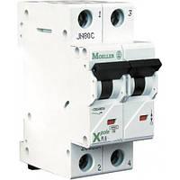 Автоматический выключатель PL6-C4/2, 4 A, 2 полюса, кривая C, Iкз = 6 кA, серия Xpole