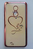 Силикон Beckberg Samsung A510 Heart (Gold)