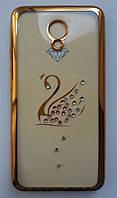 Силикон Beckberg Samsung A520 Swan (Gold), фото 1