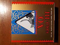 100% ПЛАСТИКОВЫЕ ИГРАЛЬНЫЕ КАРТЫ GOLD-111 В ФУТЛЯРЕ.