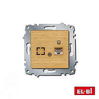 Розетка 1-а комп. Zena модуль береза/клен 609-012700-247