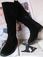 Женские зимние высокие замшевые сапоги в стилеTimberland! мех ботинки черные обувь теплая