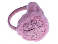 Навушники теплі в'язані (рожеві)