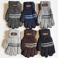 Перчатки детские одинарные для мальчиков 5-7 лет Оптом 5684 S