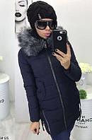 Зимнее пальто с капюшоном (2 цвета)