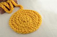 Реквизит для фотосессии новорожденных коса из шерсти мериноса 4м