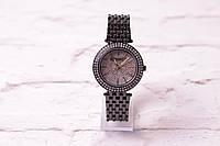 Классические женские часы Michael Kors в матовом серебре (кварцевые) циферблат в камнях