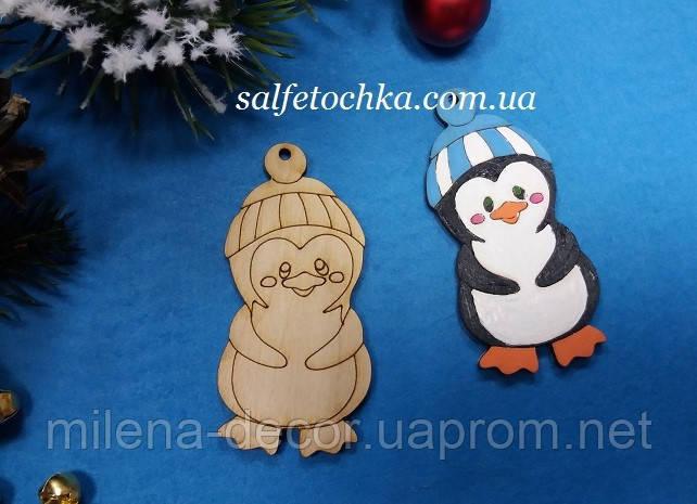 """Новогодняя фигурка  """"пингвин""""  (8,5*7 см.)"""