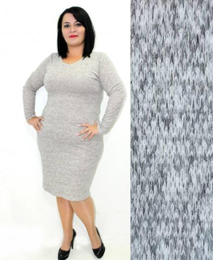 Женское зимнее теплое ангоровое платье Rondo / размер 50,52,54 цвет серый