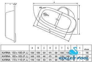 Ванна акрилова Koller Pool Karina 170x110 L, фото 2