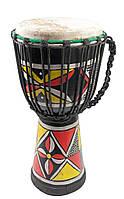 Барабан расписной дерево с кожей (40х20х20 см)