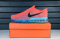 Мужские кроссовки Nike Air Max 2014 Flyknit Coral Blue