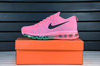 Женские кроссовки Nike Air Max Flyknit 2014 Pink Blue
