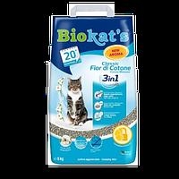Biokats Classic Fior de Cotton 3in1 5кг- комкующийся наполнитель с нежным ароматом хлопка  (G-617237)