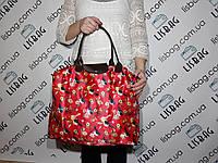 Хозяйственная сумка, сумка для покупок  (50*40) цвет красная птички