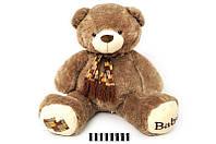 Мягкая игрушка Мишка с шарфом музыкальный 1269\50, сидячий 50 см