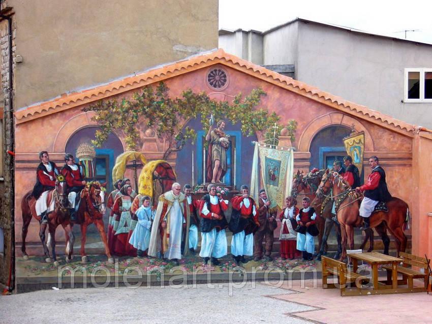 Фасадные фрески