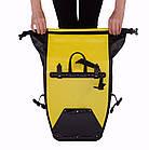Сумка на багажник Lord водонепроницаемая желтая, фото 8