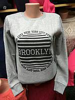 "Батник теплый ""Brooklyn"" разные цвета"