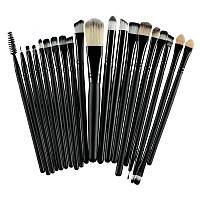 Кисти для макияжа Black, профессиональный набор из 20 штук