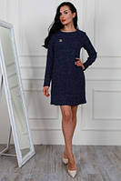 Красивое и теплое платье из ткани букле 44-48
