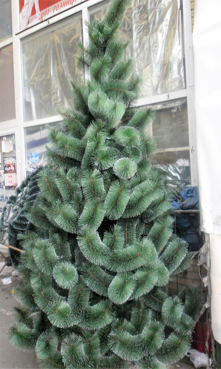 Искусственная елка 2,3 метра , сосна с имитацией инея