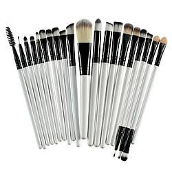 Кисти для макияжа Black/White, профессиональный набор из 20 штук