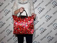 Хозяйственная сумка, сумка для покупок  (43*34) цвет красная птички