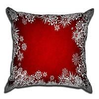 Декоративная подушка Теплые снежинки 40х40см