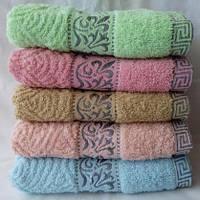 Махровое  качественное полотенце для лица Размер 100*50.