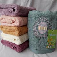 Качественное махровое  полотенце для лица Размер 100*50., фото 1