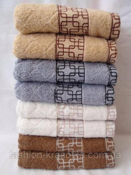 Махровое  качественное полотенце для лица. Размер 100*50.