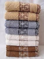 Махровое  качественное полотенце для лица. Размер 100*50., фото 1