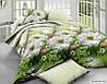 Комплект двоспального постільної білизни - квіти на ставку